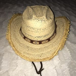 932b132a7fe27 🤠Youth Straw Cowboy Hat with drawstring 🤠
